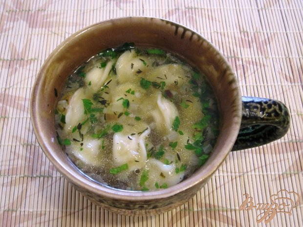 Суп с пельменями