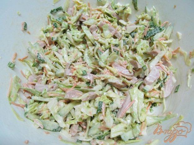 Салат из молодой капусты с корейской капустой
