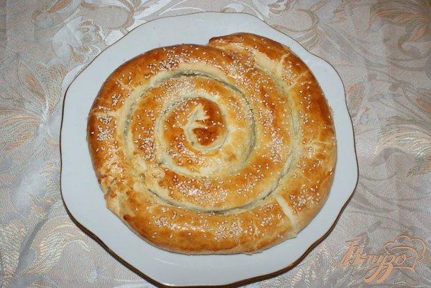 """Рыбный пирог """"Улитка"""" с кунжутом"""