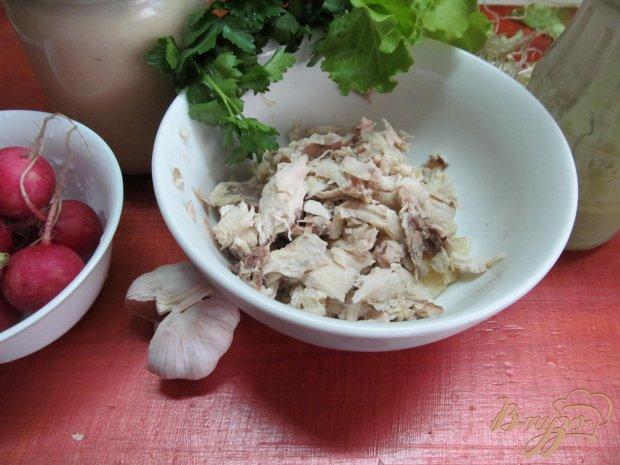 Салат из редиса и курицы