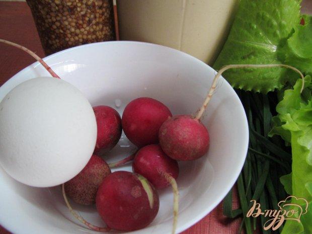 Рецепт Салат из редиса и яйца