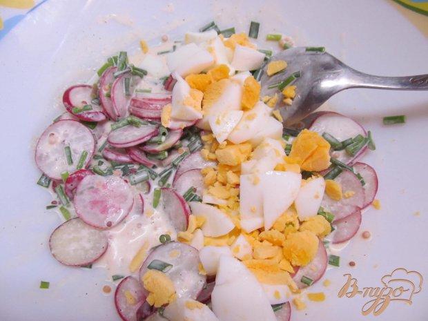 Салат из редиса и яйца