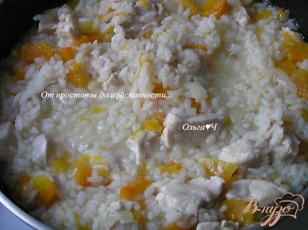 Куриное филе с рисом и тыквой
