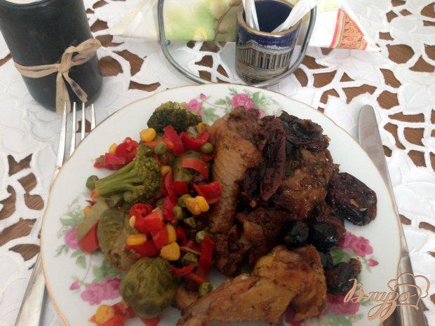 Домашняя курица с вялеными помодорами и вялеными маслинами в мультиварке