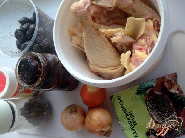 Рецепт Домашняя курица с вялеными помодорами и вялеными маслинами в мультиварке