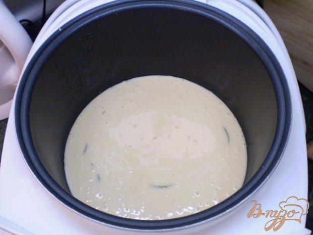 Ванильный бисквит с мятой в мультиварке