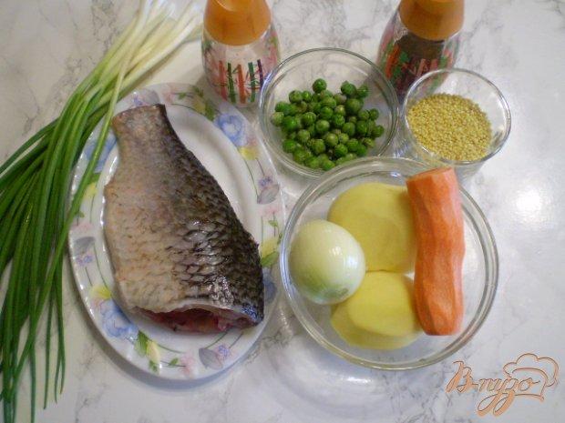 Суп рыбный с горошком