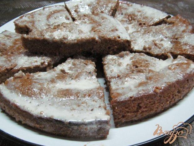 Пирожные залитые сметаной