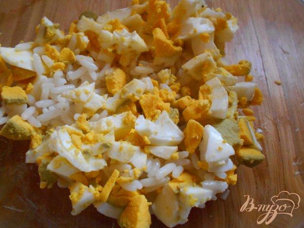 Рецепт Салат с кальмаром и яблоком