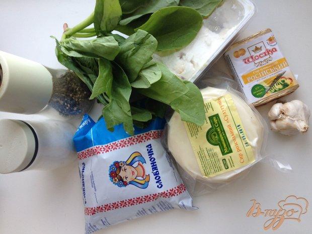 Запеченные сыры с шпинатом