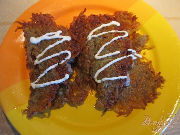 Картофельные решти с грибами