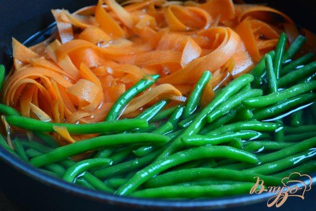 Гарнир из фасоли с морковью