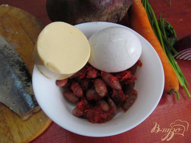 Рецепт Салат из сельди с фасолью