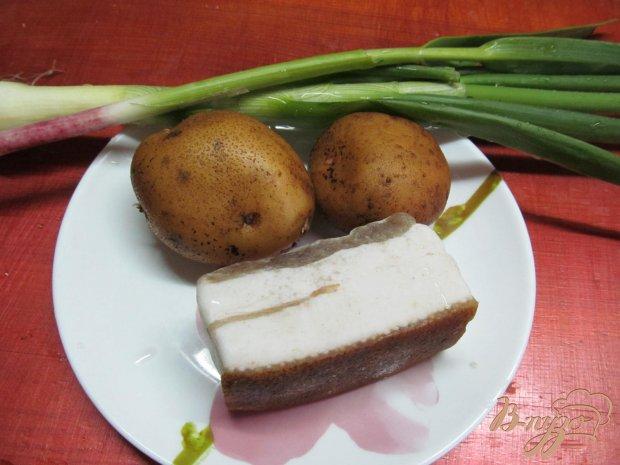 Рецепт Картофель с салом запеченный в фольге