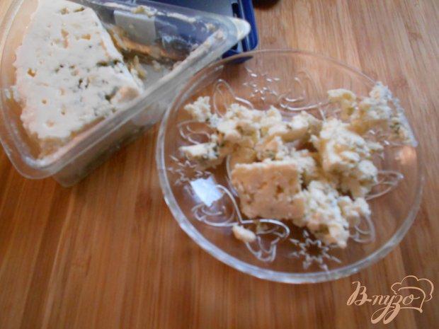Блины с беконом, грушей и сыром Дор Блю