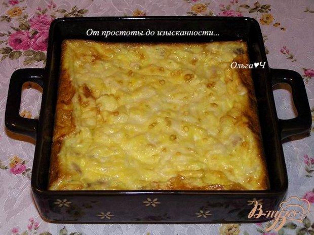 Фриттата с курицей, картофелем и кукурузой