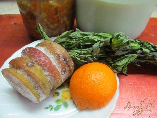Смузи на молоке из груши с апельсином