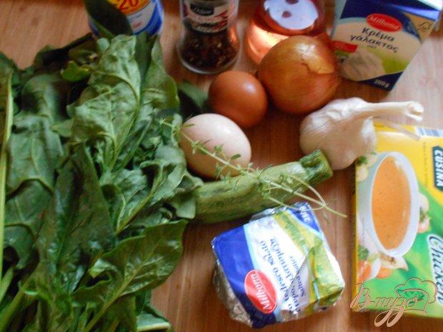 Рецепт Суп -пюре со шпинатом и цуккини