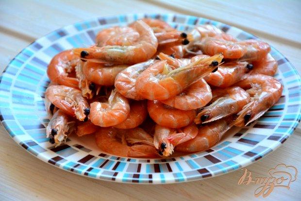 Рецепт Веррины с креветками и красной икрой