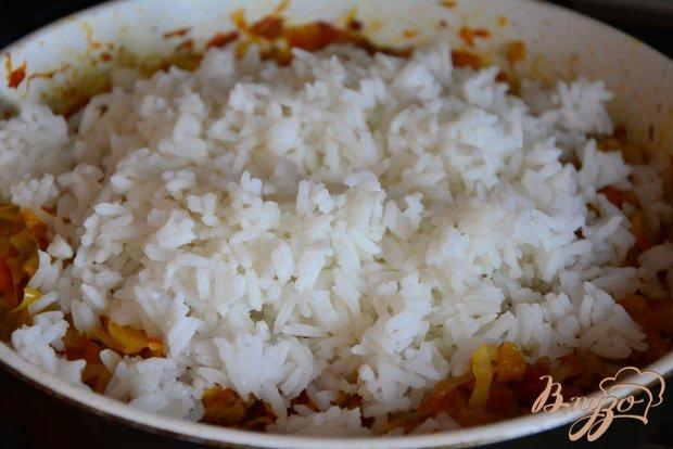 Бигус с капустой, фаршем и рисом.