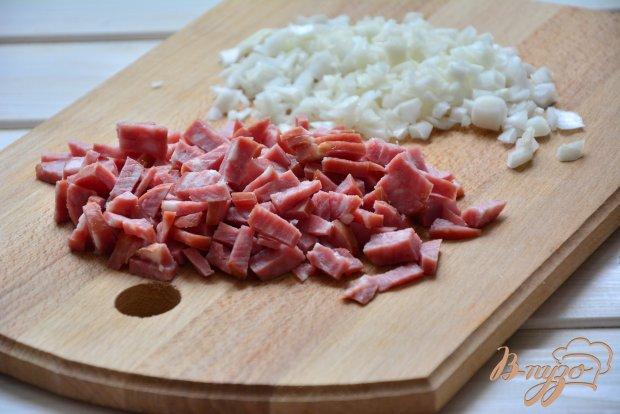 Блинчики с рисом и колбаской