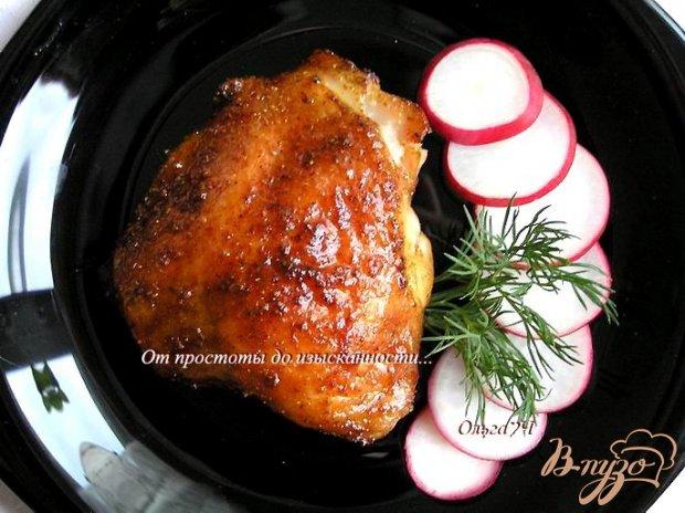 Курица с паприкой и кориандром в мятном сиропе