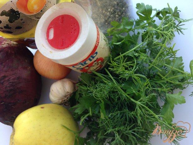 Рецепт Салат из свеклы с яблоком и майонезом