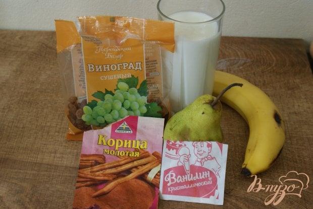 Рецепт Кефирныйсмузис фруктами и изюмом