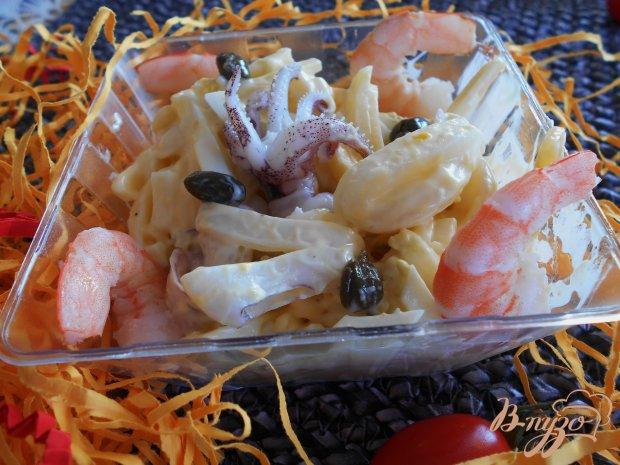 Салат с кальмарами и каперсами