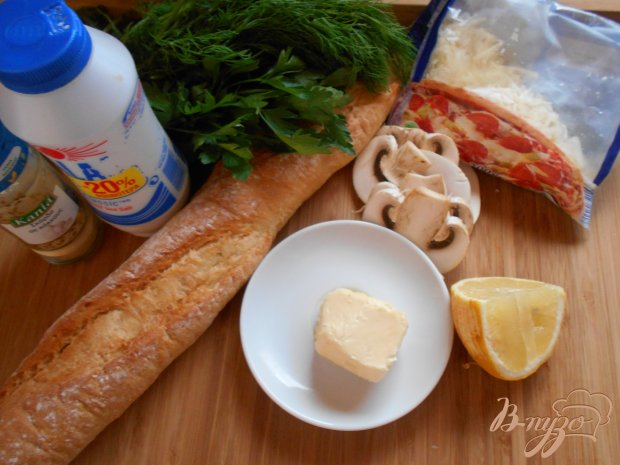 Рецепт Горячие бутерброды с шампиньонами