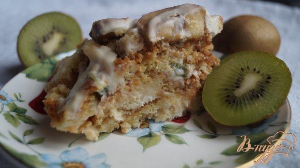 Торт с печенья и киви