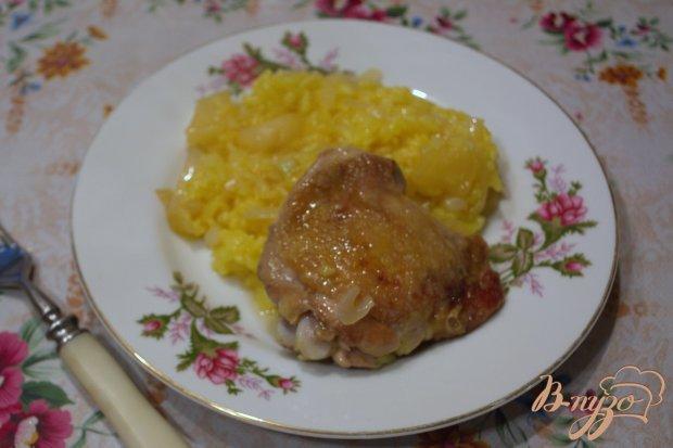 Нежный рис с куриными стейками