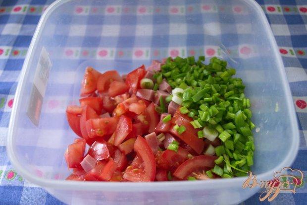 Маковый салат с ветчиной