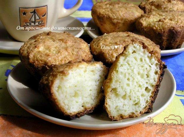 Творожные кексы с кокосовой стружкой