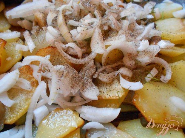 Картофель жареный с вешенками