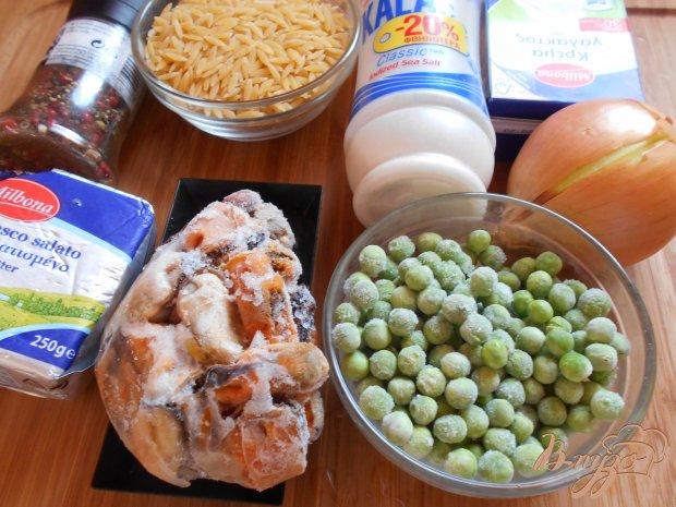 Рецепт Орзо с мидиями и зеленым горошком