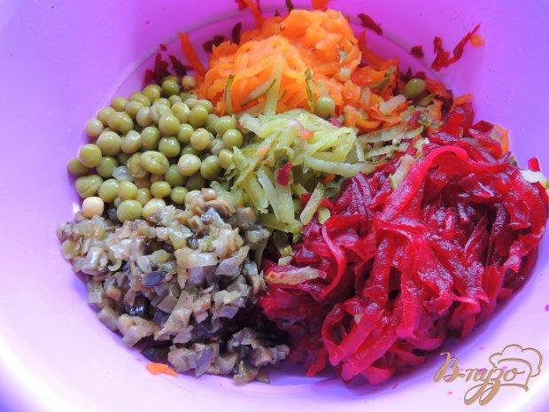 Салат Розы из овощей