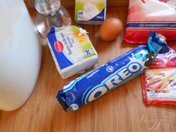 """Рецепт Кексы с печеньем """" Орео"""""""