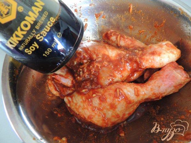 Курица в соевом соусе с имбирём