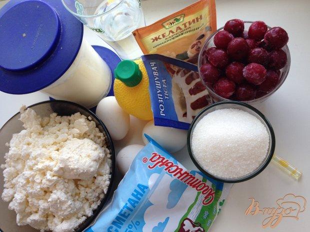 Рецепт Вишнево-творожный торт с желе