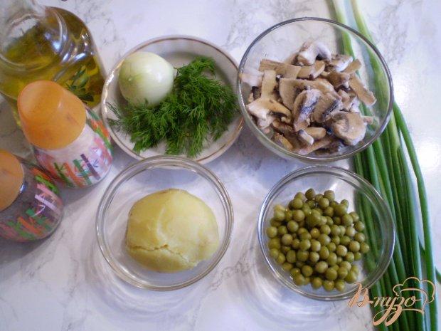 Рецепт Теплый салат грибной