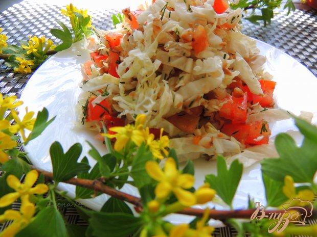 Лёгкий салат с помидорами и гречкой