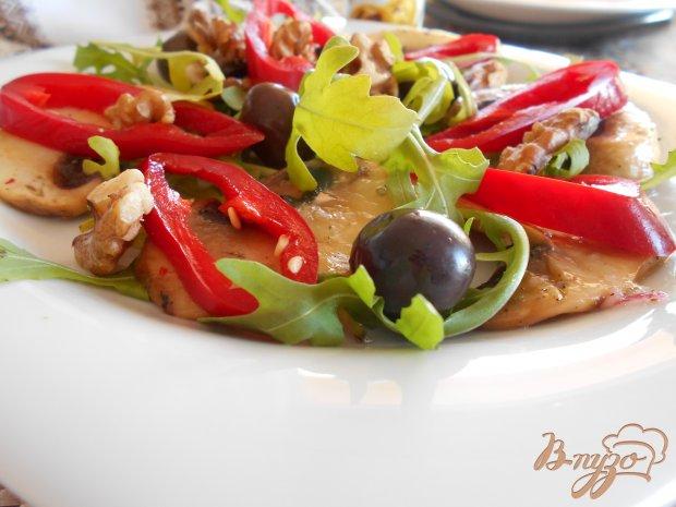 Салат с грибами и болгарским перцем