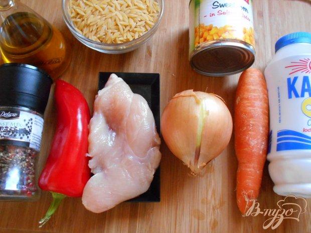 Рецепт Орзо с куриным филе и вялеными помидорами