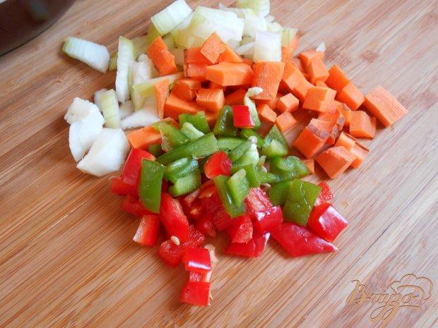 Орзо с куриным филе и вялеными помидорами