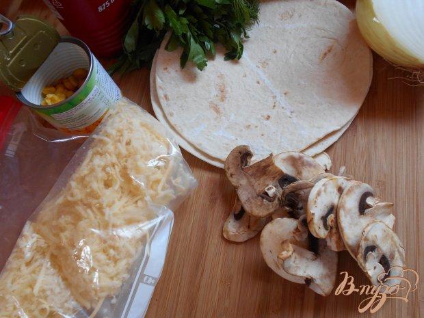 Рецепт Тортилья с грибами, острая