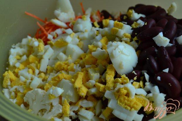 Салат из цветной капусты с фасолью