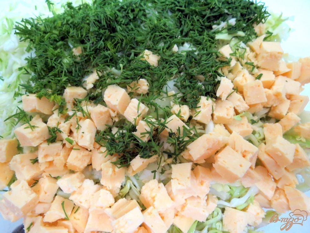 Фото приготовление рецепта: Салат из редиса с капустой. шаг №9