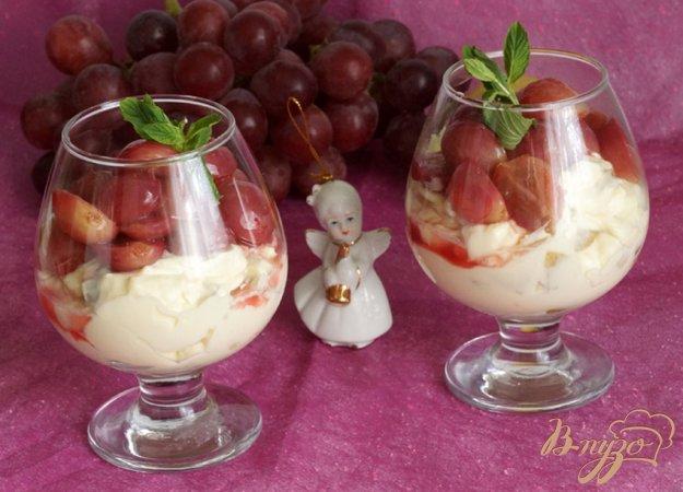 Крем з маскарпоне з грушею і виноградом. Як приготувати з фото