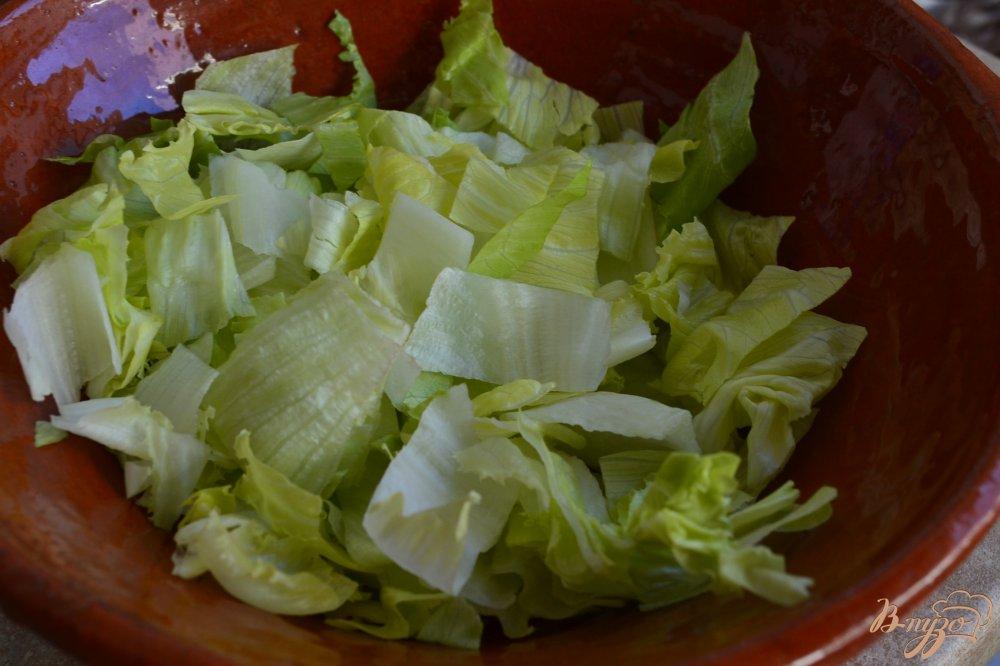 Фото приготовление рецепта: Овощной салат с отварной чечевицей шаг №1